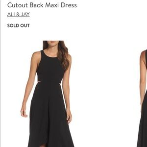 Never worn Ali & Jay cut out Maxi dressNordstrom's